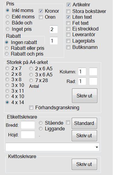 skriva ut streckkoder